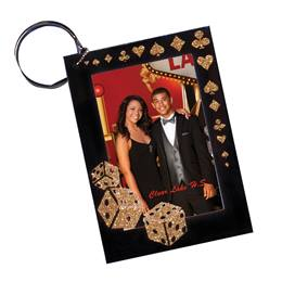 High Roller Photo Key Chain