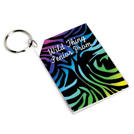 Walking on the Wild Side Rectangle Key Tag