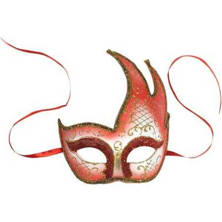Red Hand Decorated Mask