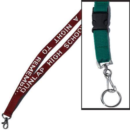 Lanyard with Buckle Split Ring