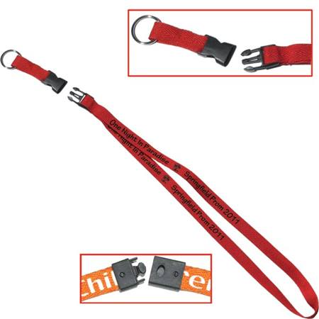 Buckle & Split Ring Lanyard with Breakaway Back
