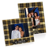Full-color Economy Frame - Black and Gold Plaid