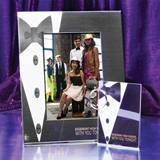 Full-Color Tuxedo Elegance Frame and Photo Key Chain Set