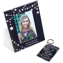 Full-color Frame and Key Chain Set - Dangling Stars
