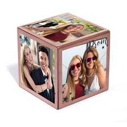 "Rose Gold ""Prom"" Photo Cube"