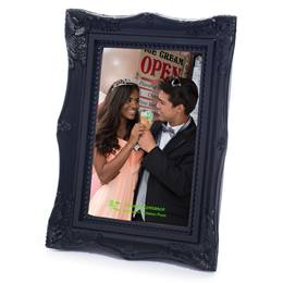 Black Elegance Plastic 4x6 Photo Frame