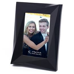 "Black Mod Edge Plastic 4 x 6"" Photo Frame"""