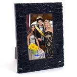 "Black Textured Plastic 4 x 6"" Photo Frame"""