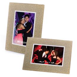 Gold Glitter 4x6 Glass Frame