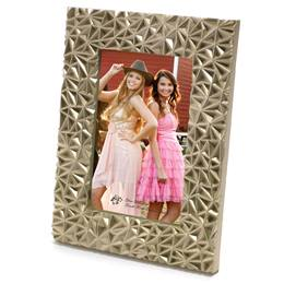 "Gold Textured Plastic 4 x 6"" Photo Frame"""