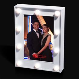 Globe Lights LED White Frame