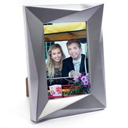 "Silver Mod Edge Plastic 4"" x 6"" Photo Frame"