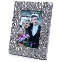 "Silver Solitaire 4 x 6"" Photo Frame"