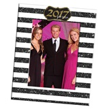 2017 Prom Frame With Glittered Stripes Design