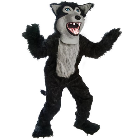Friendly Wolf Mascot Costume