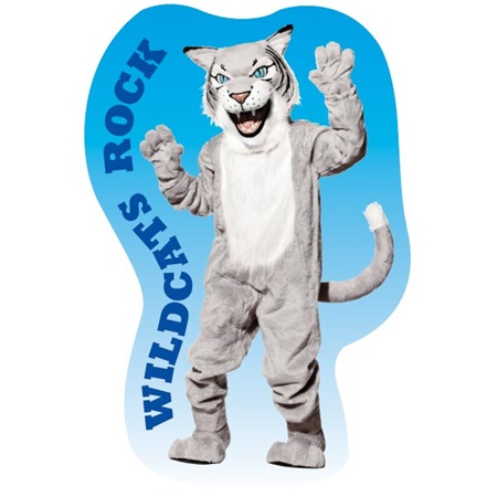 Custom Gray Wildcat Mascot Wall Sticker