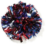 3-Color Metallic pom poms with Standard Handle