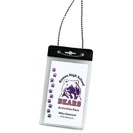Vertical ID Holder with Chain