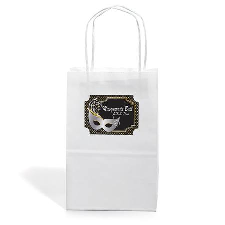 Small White Gift Bag With Rectangle Sticker