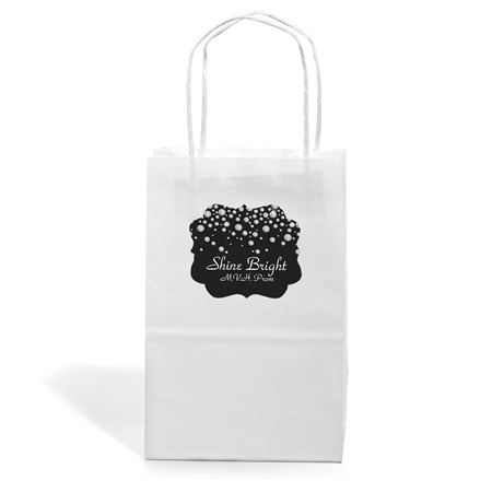 Small White Gift Bag With Scallop Sticker