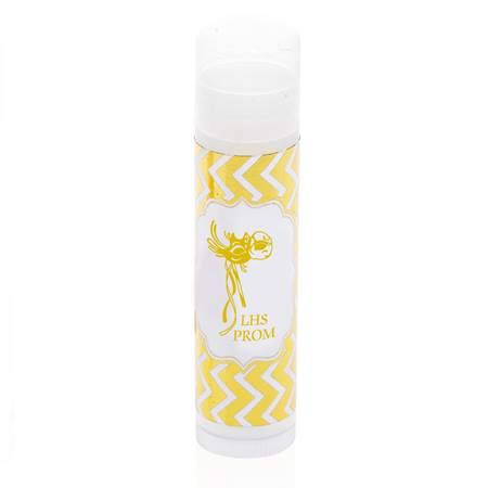 Lip Balm With Metallic Foil Label - Gold Chevrons