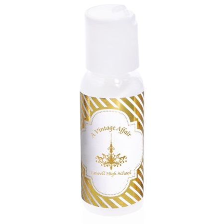 Hand Lotion with Metallic Foil Label - Gold Lines