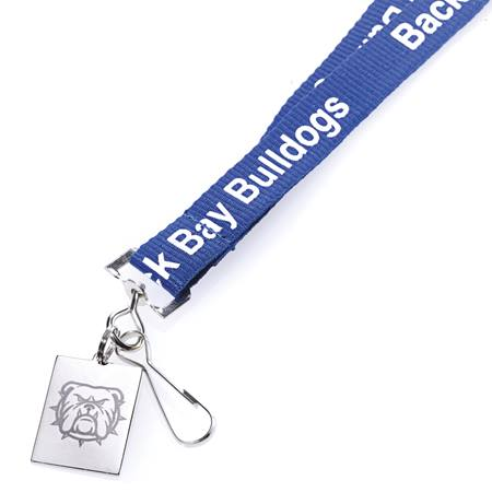 Metal Lanyard with Engraved Silver Tag