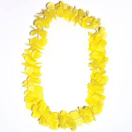 Yellow/Gold Silk Floral Lei