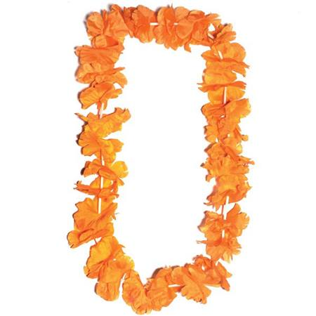 Orange Silk Floral Lei
