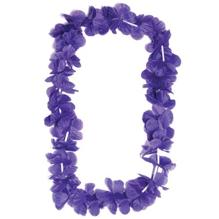 Purple Silk Floral Lei