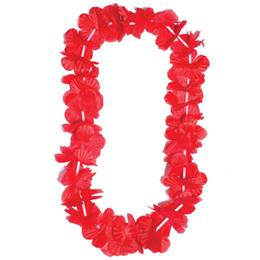 Red Silk Floral Lei