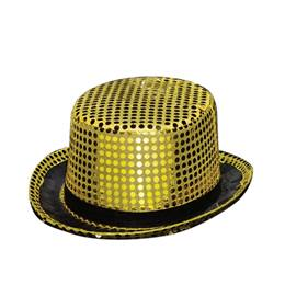 Gold Sequined Top Hat