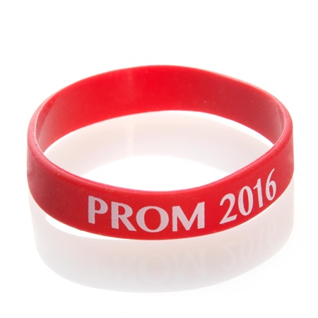 Prom 2017 Wristband - Red/White