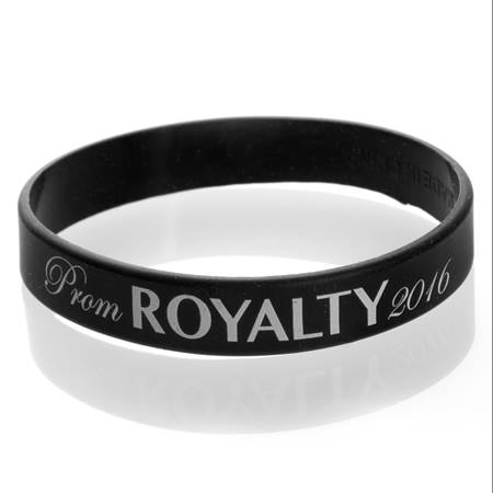 Prom Royalty 2017 Wristband - Black/White
