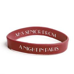 Custom Two-sided Wristband - Maroon