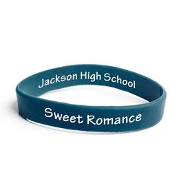 Custom Two-sided Wristband - Navy Blue