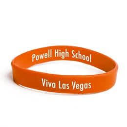 Custom Two-sided Wristband - Orange