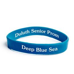 Custom Two-sided Wristband - Royal Blue