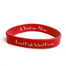 Custom Two-sided Wristband - Red
