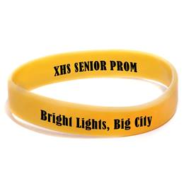 Custom Two-sided Wristband - Yellow