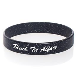 Custom Glitter Wristband - Black