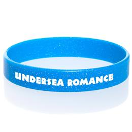 Custom Glitter Wristband - Blue