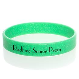 Custom Glitter Wristband - Green