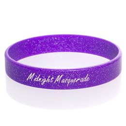 Custom Glitter Wristband - Purple