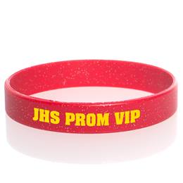 Custom Glitter Wristband - Red