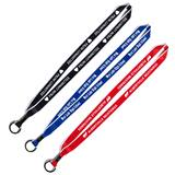 Two-color Lanyard With Split Ring