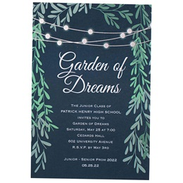 Lights in the Garden Invitations