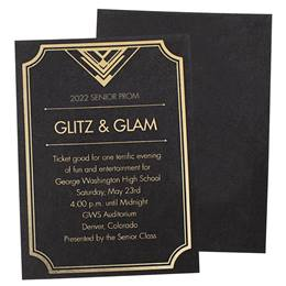 City in the Sky Shimmer Invitations