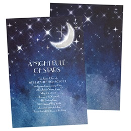 Moon Sparkles Foil Invitations
