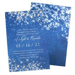 Blue Starbright Invitations